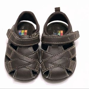 ❤️ 5 for $15! Baby/Toddler brown sandals size 3
